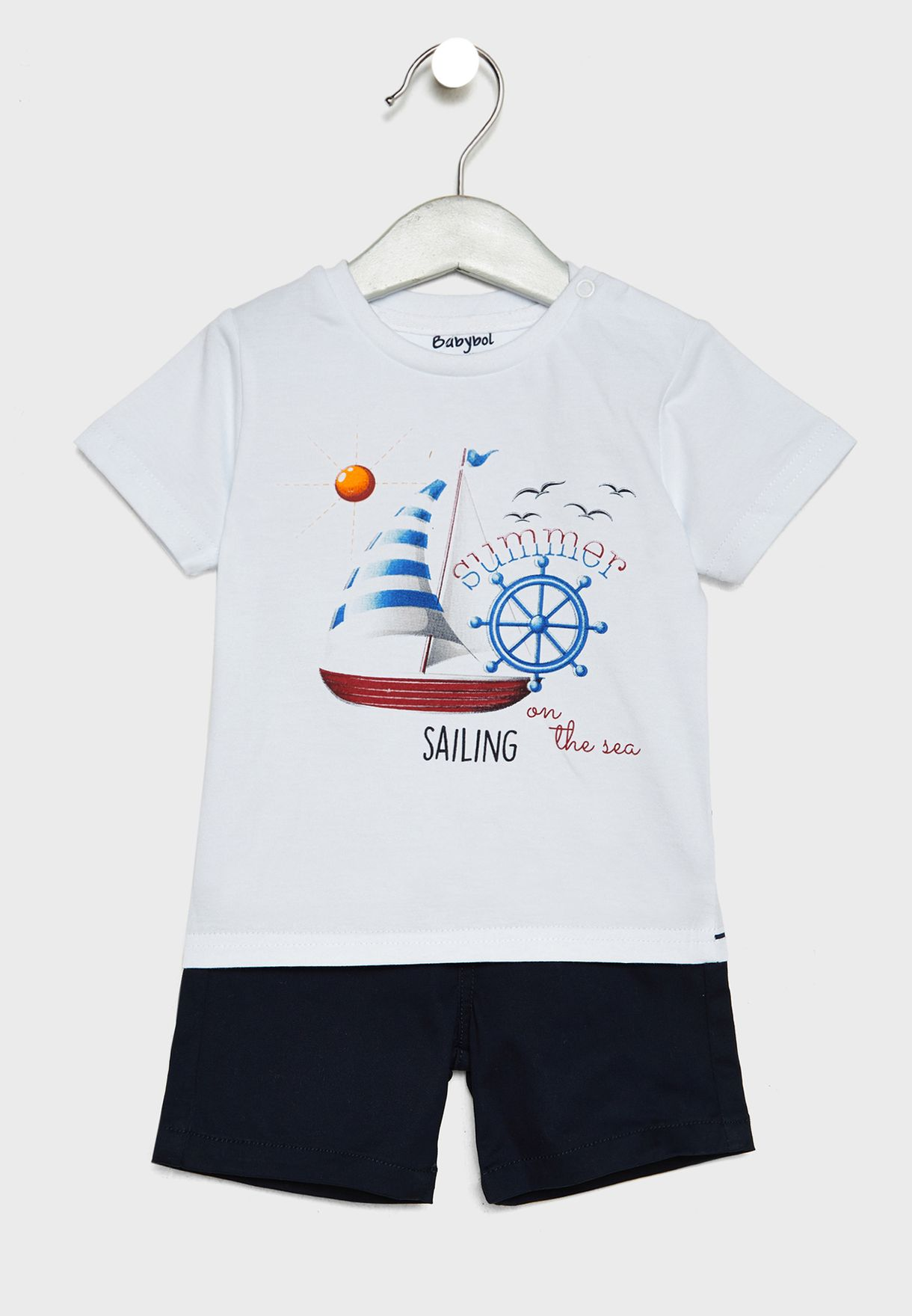 Infant Boat Graphic T-Shirt + Shorts Set