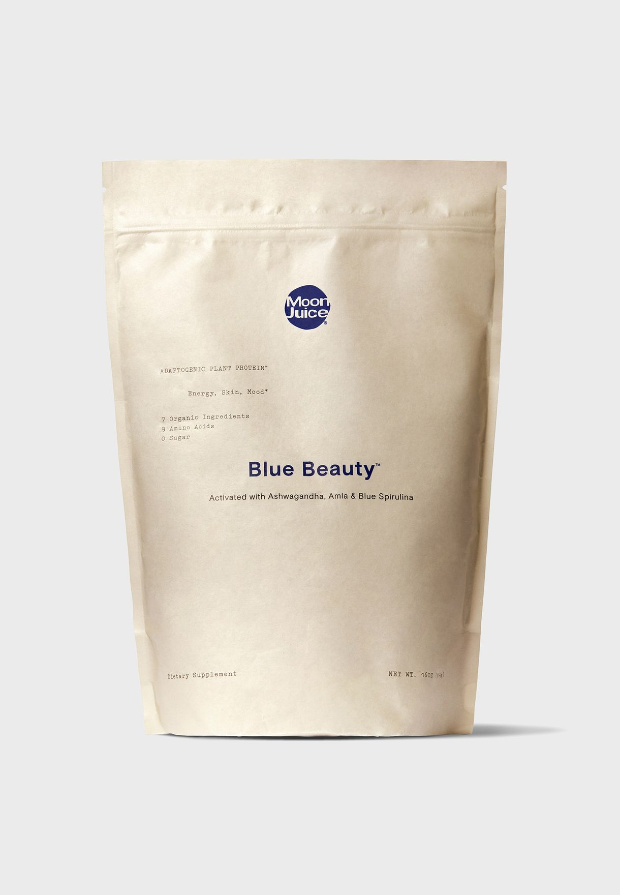 Blue Beauty Adaptogenic Protein 16 Oz