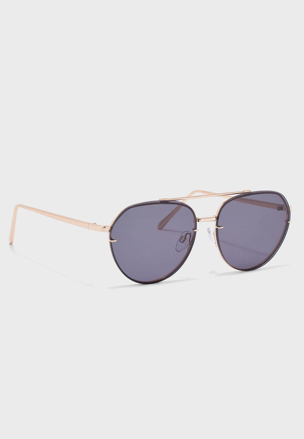 Buy Aldo gold Perwen Aviator Sunglasses