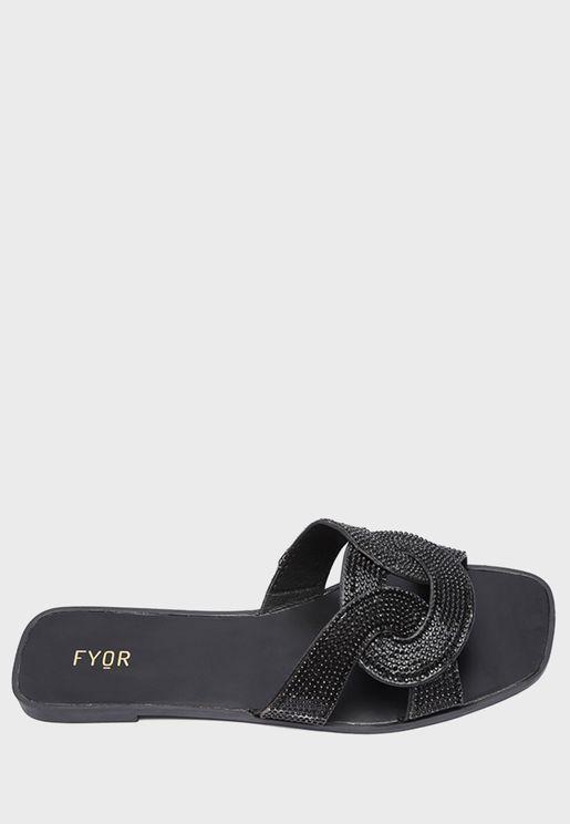 Multistrap Flat Sandal