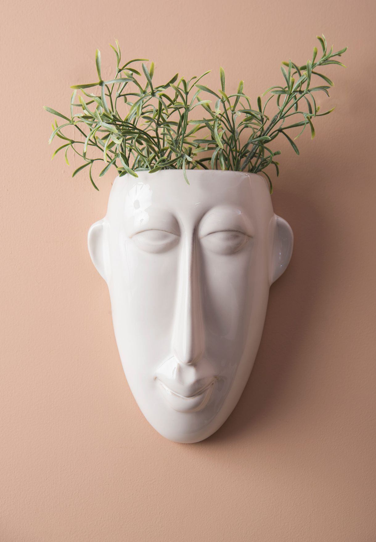 Large Mask Wall Plant Pot