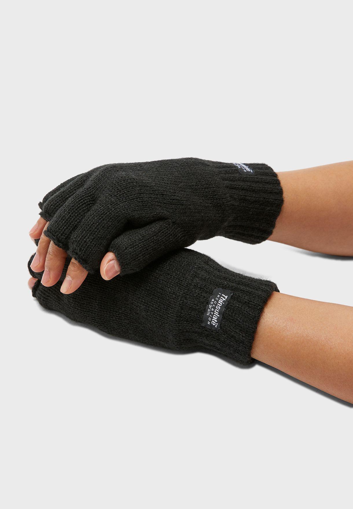 Mens Thinsulate Fingerless Gloves