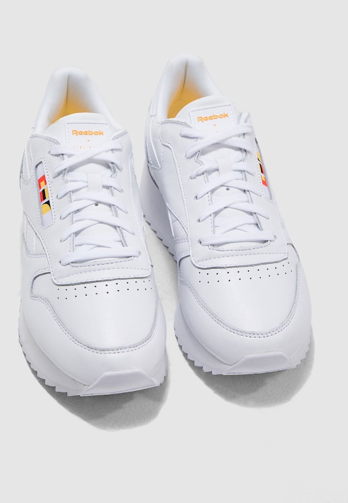 7ee6d1d430ac Shop Reebok white Gigi Hadid Classic Leather Double DV5391 for ...