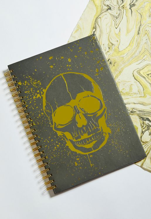 A4 Gold Skull Notebook