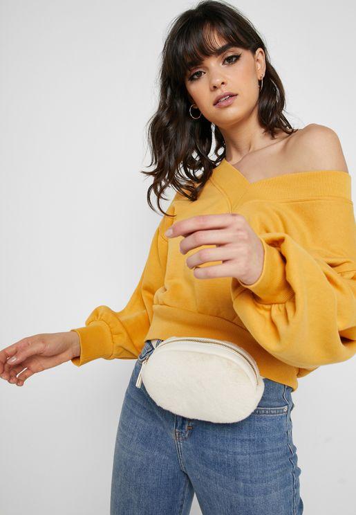 Oversized Drop Shoulder Sweatshirt