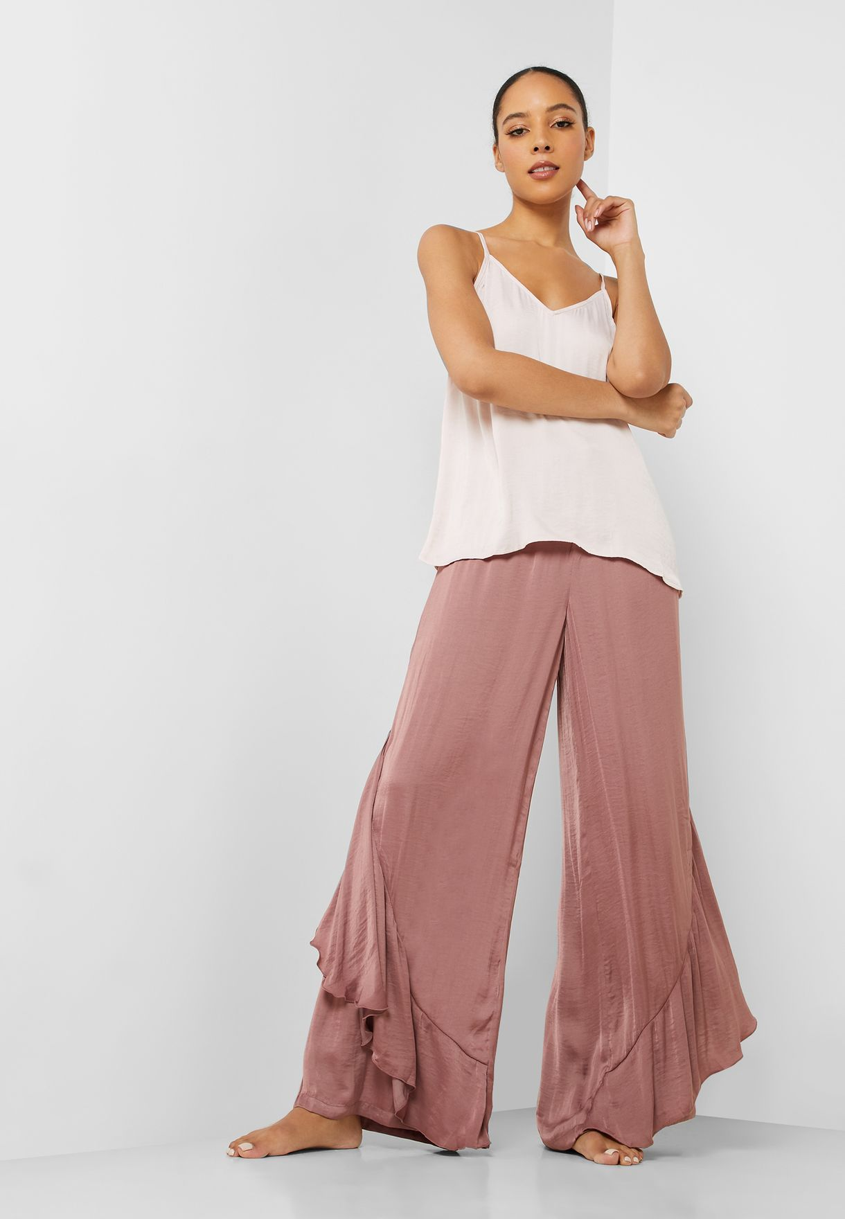 Cami Top & Asymmetric Pyjama Set