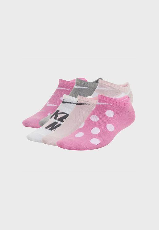 Infant 6 Pack Everyday No Show Socks