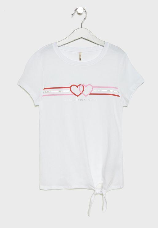 Kids Everything Slogan T-Shirt