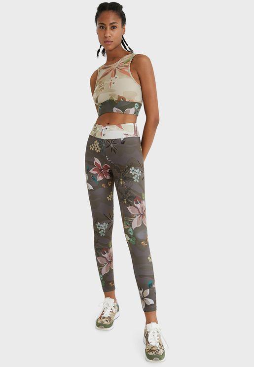 Floral Print High Waist Leggings