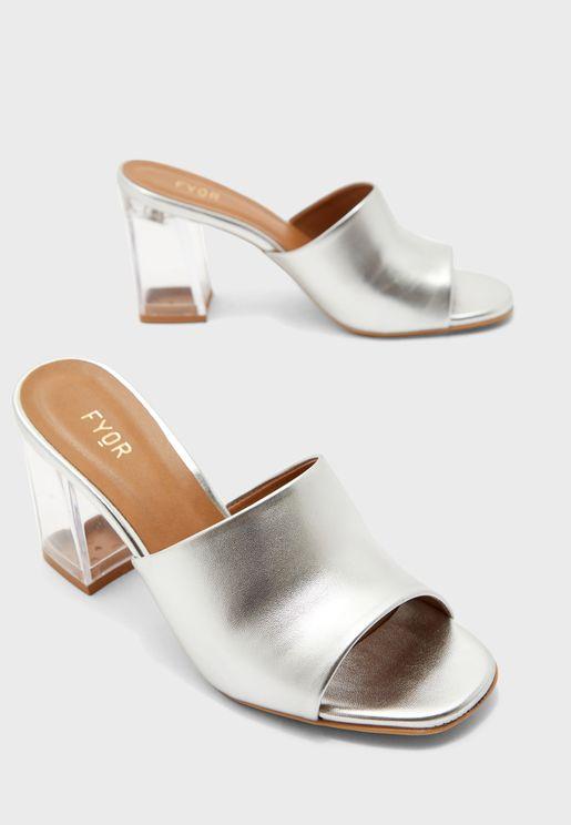 Block Low Heel Sandal