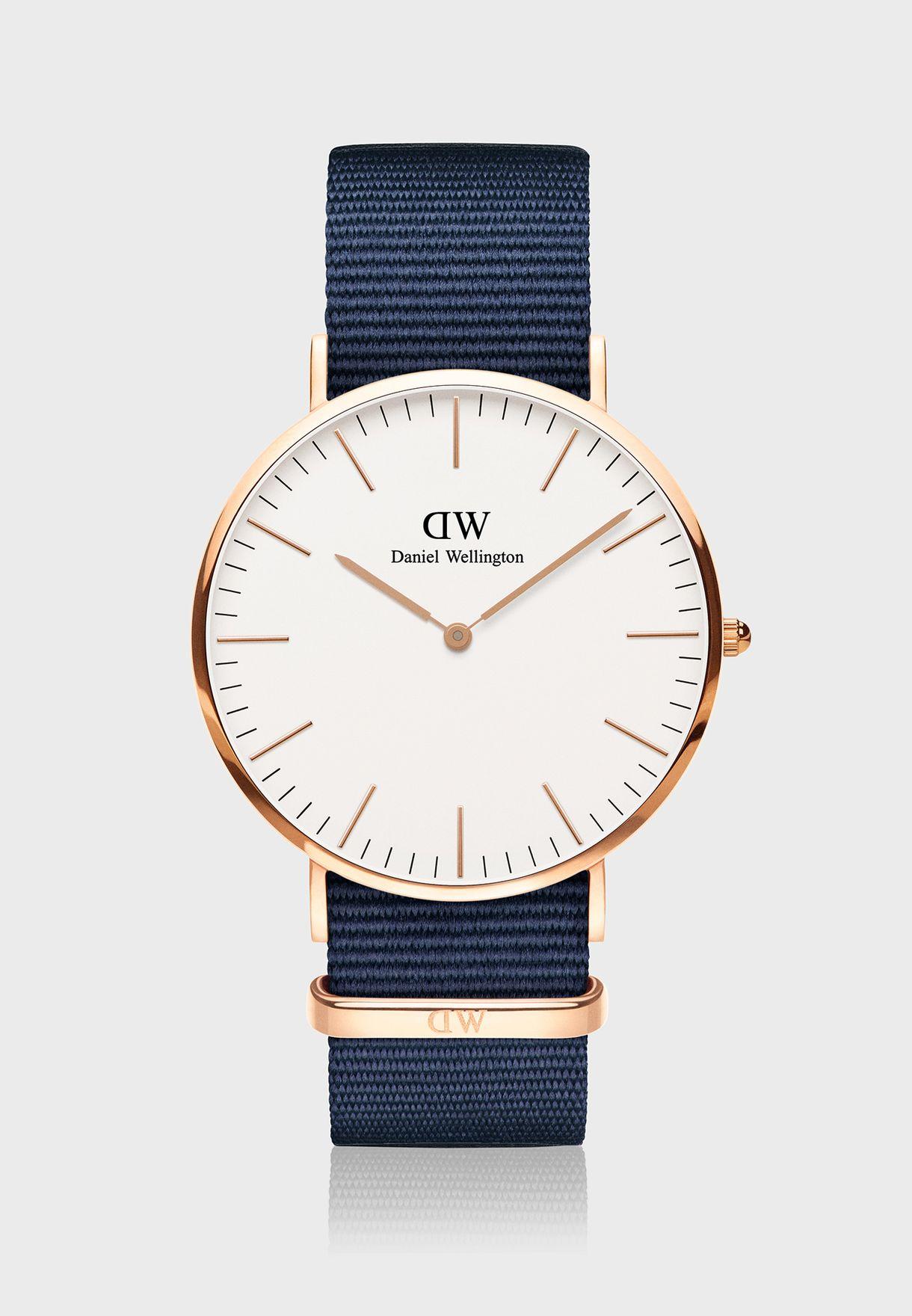 Classic Bayswater RG White 40mm Watch