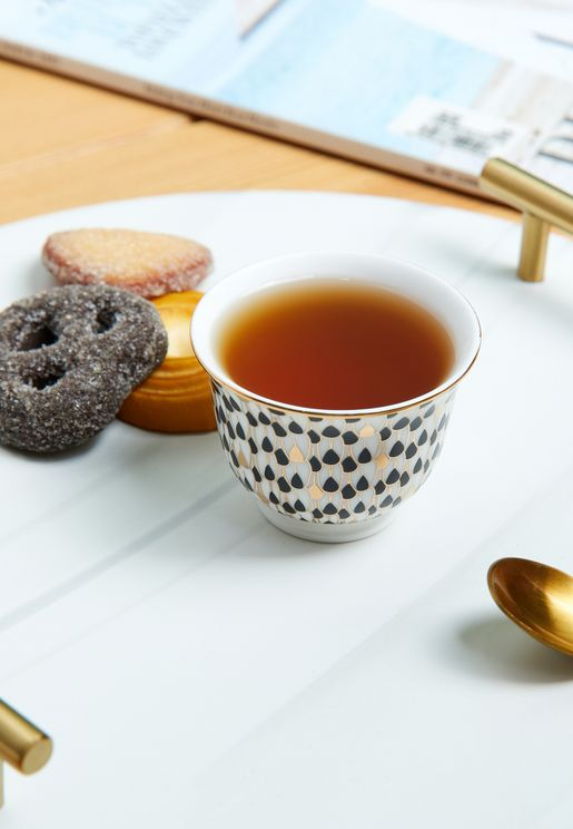 Black and Gold Tea Cup