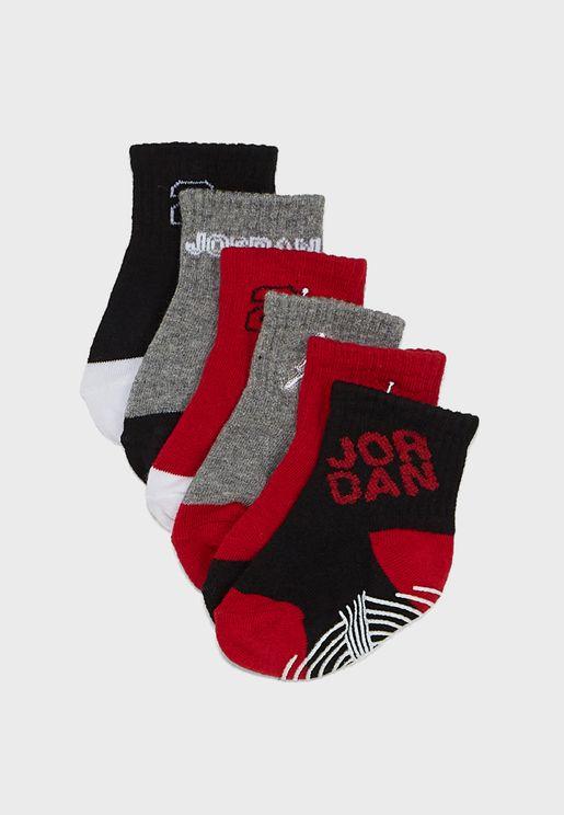 Infant 6 Pack Jordan Ankle Socks