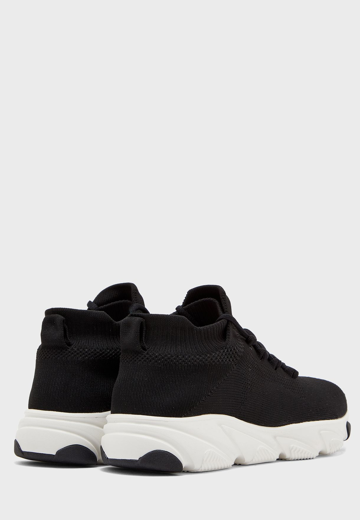 Mid Top Knitted Sneakers