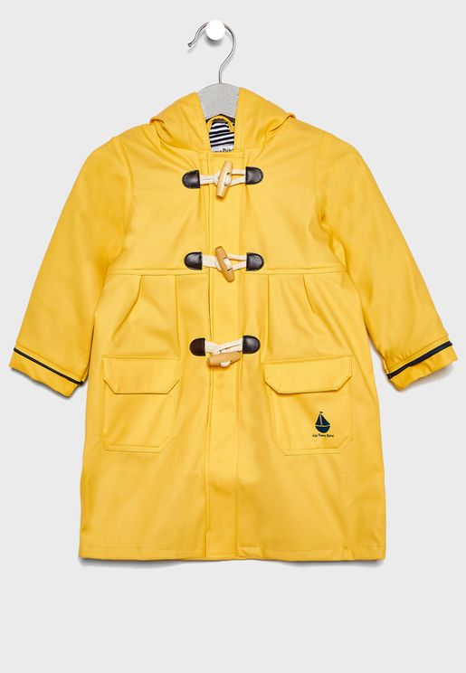 Kids Contrast Detail Raincoat