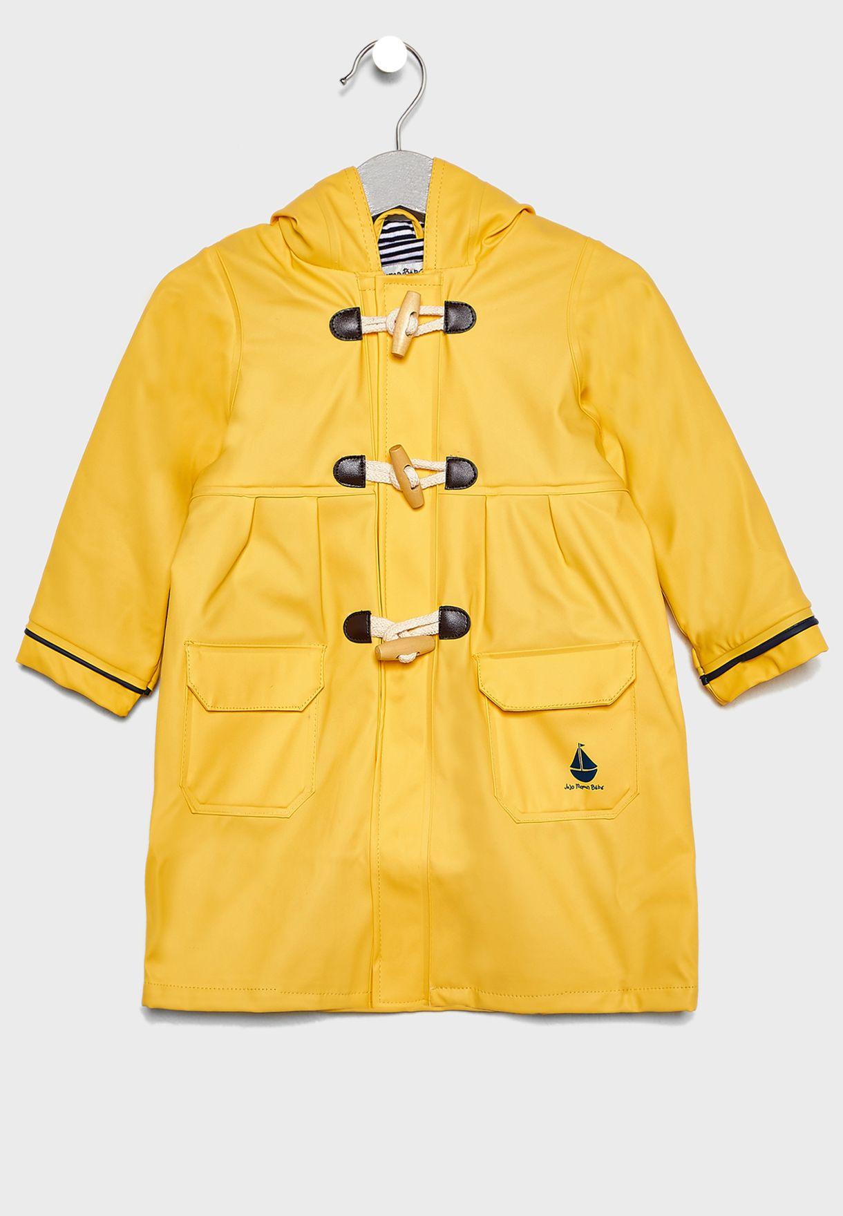 Kids Contrast Detail Raincoat