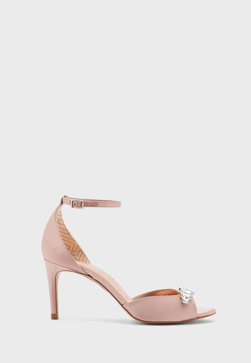 Gleamy Ankle Strap High Heel Sandals