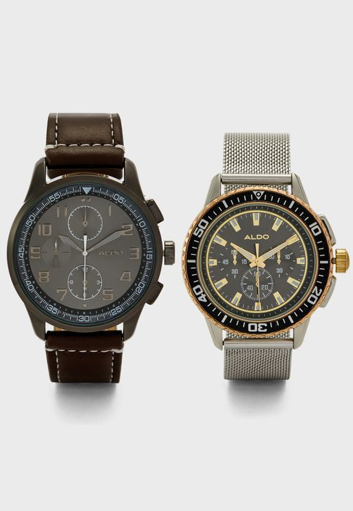 Docien Analog Watch Set