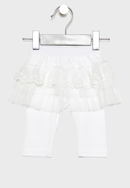 Infant Layered Skirt with Leggings