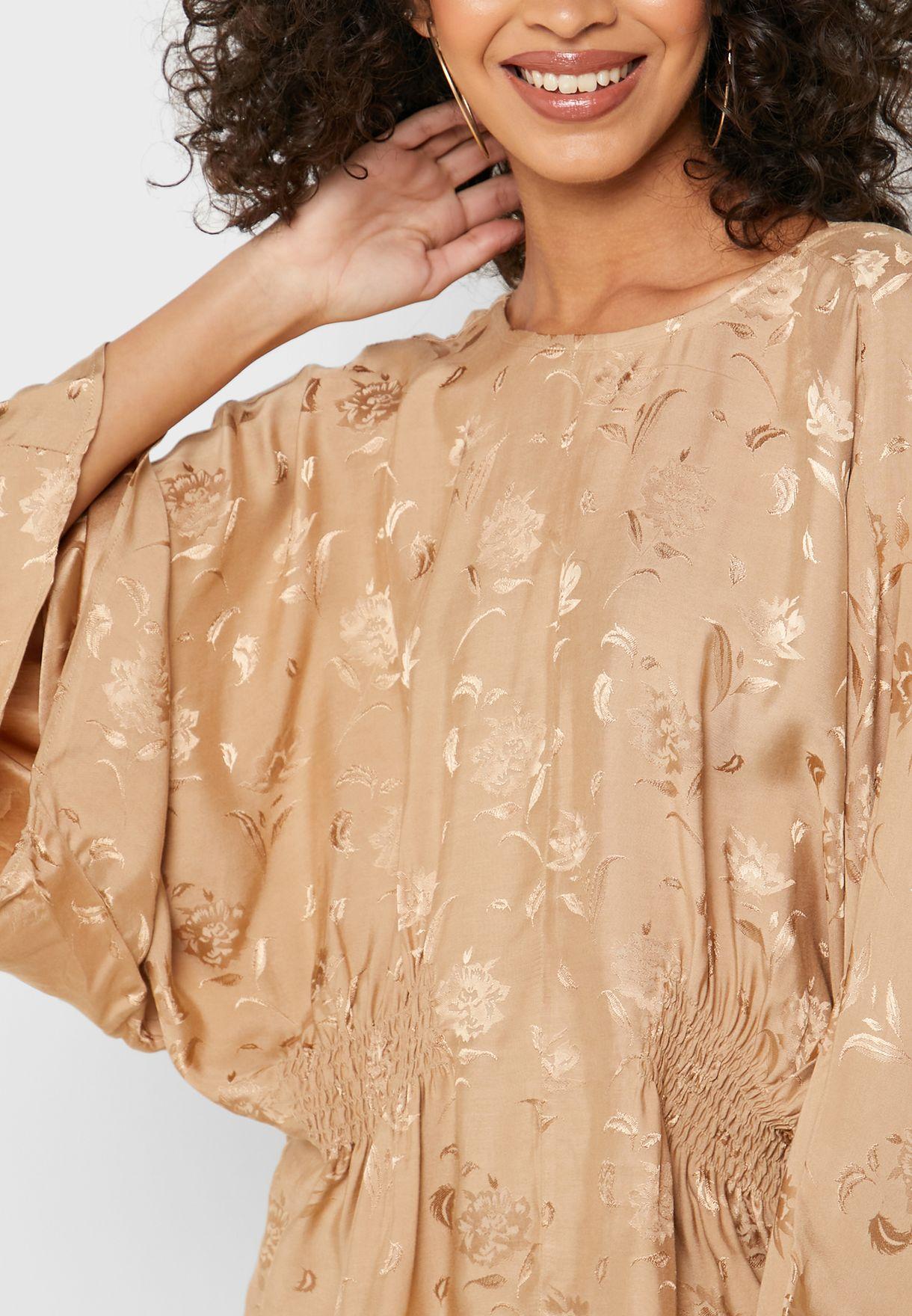 Jacquard Wide Sleeve Top