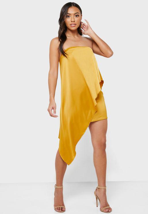 فستان بلا اكتاف