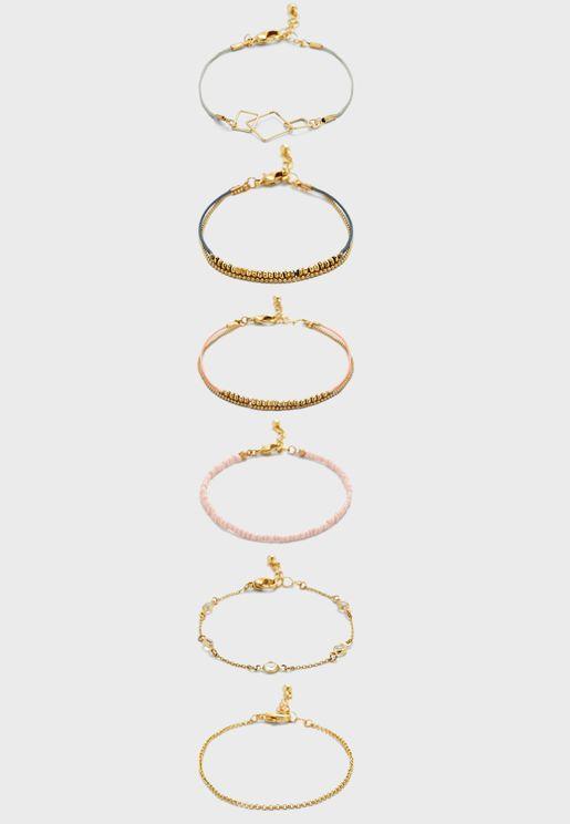 String Detail Multipack Bracelets
