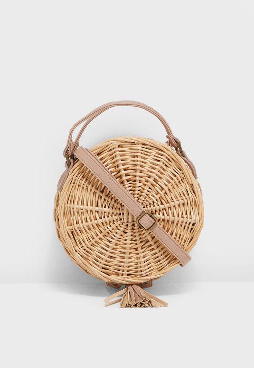 Rattan Crossbody Bag