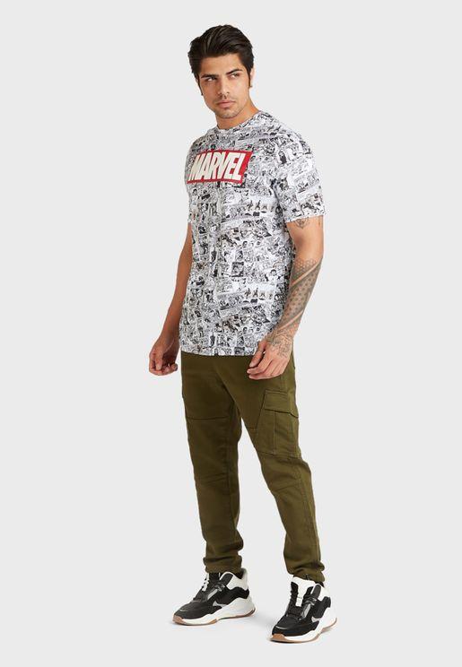 Marvel Crew Neck T-Shirt