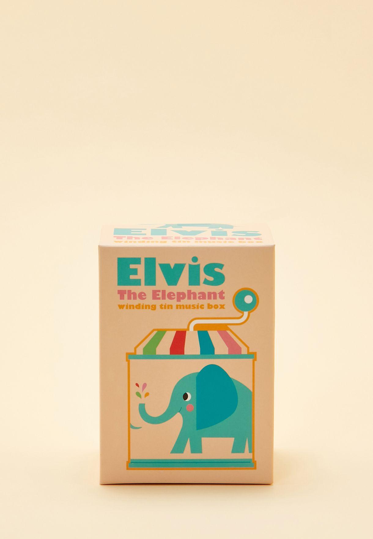 صندوق موسيقى بطباعة إلفيس الفيل