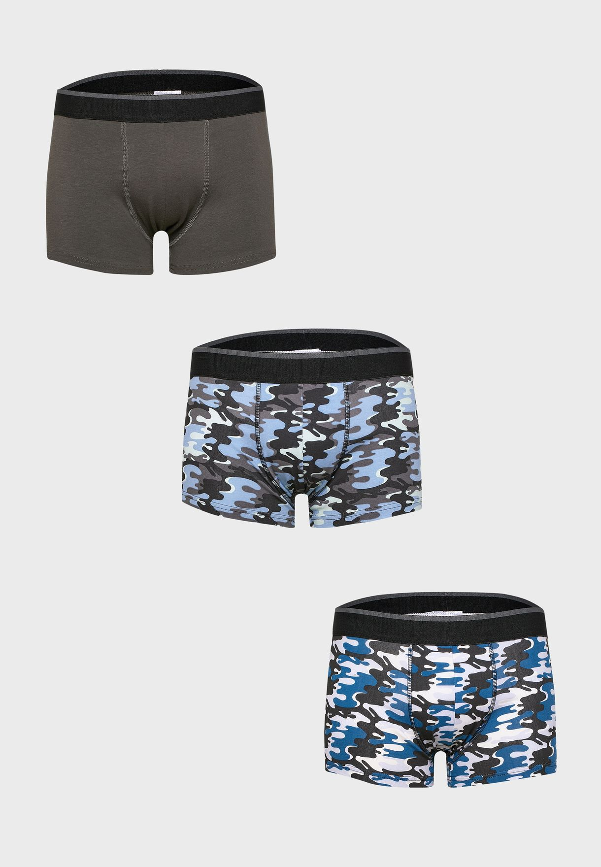 3 Pack Camo Boxers