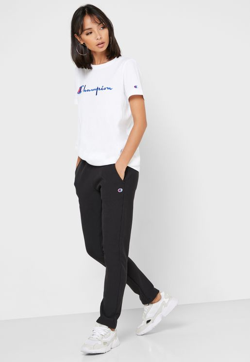 Reverse Weave Straight Hem Sweatpants