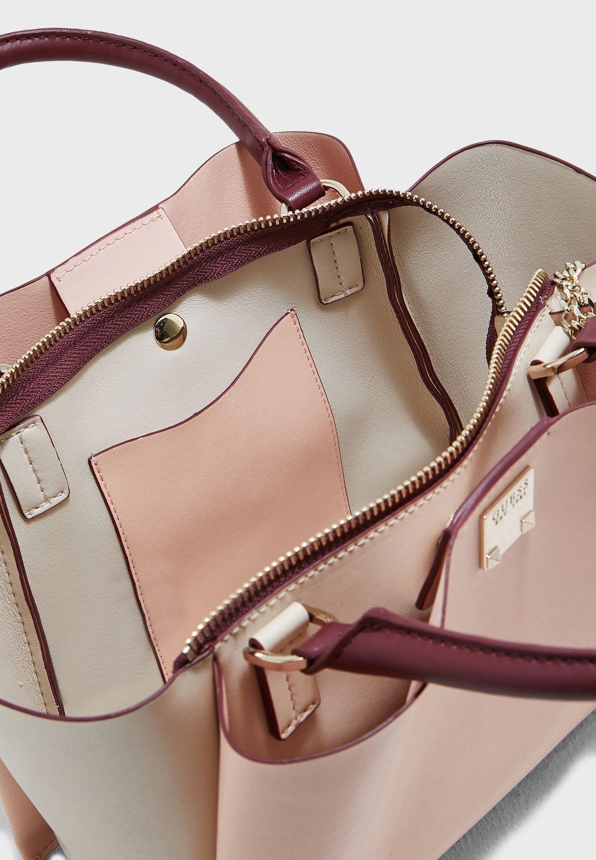 Shop Guess pink Lenia Girlfriend Satchel VG729206MCA for Women in ... c23a68d442731