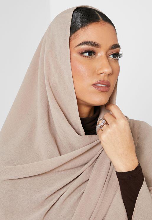 حجاب شيفون مجعد