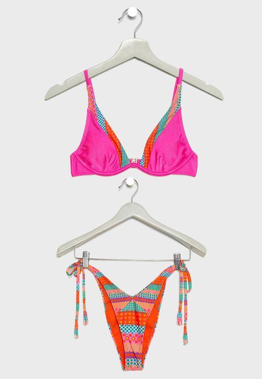 Wrap Around Strappy Bikini Set
