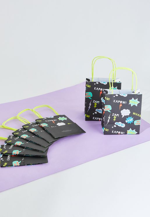Superhero Party Bags 8 Pack
