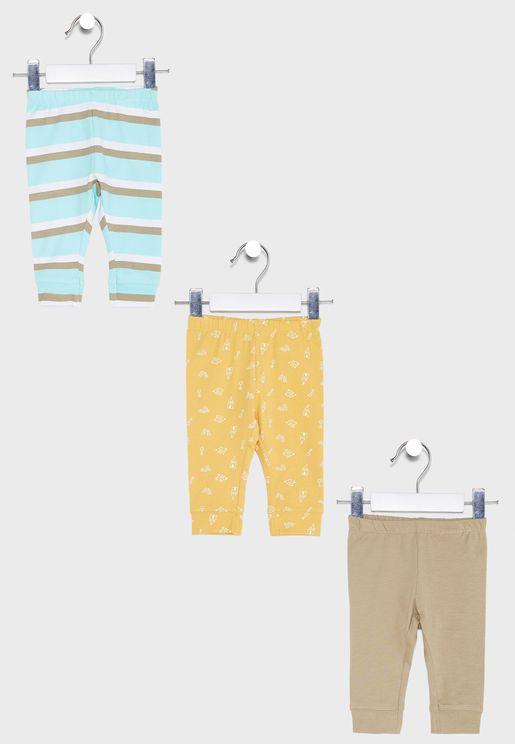 Infant 3 Pack Assorted Sweatpants