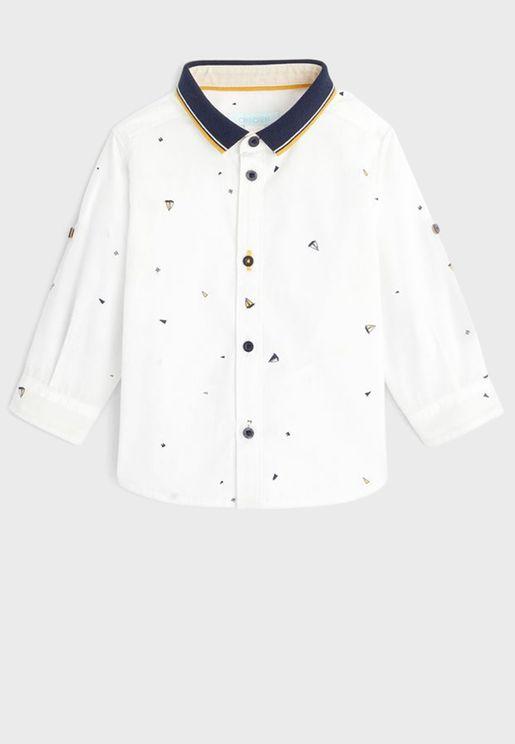 Infant Polo Collar Button Detailed Shirt