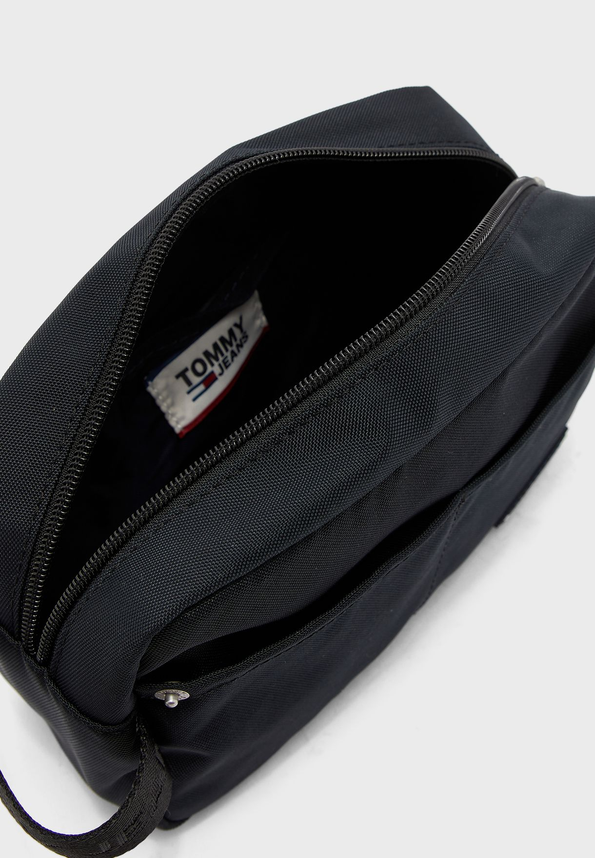 Logo Detail With Loop Wash Bag