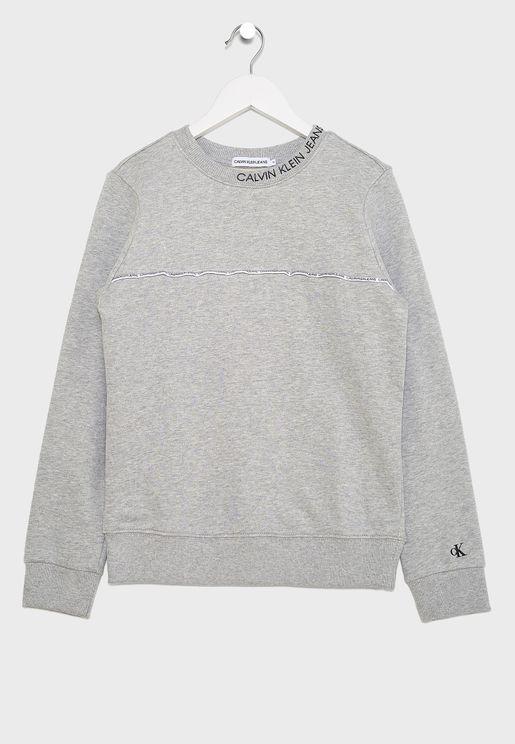 Kids Logo Printed Sweatshirt