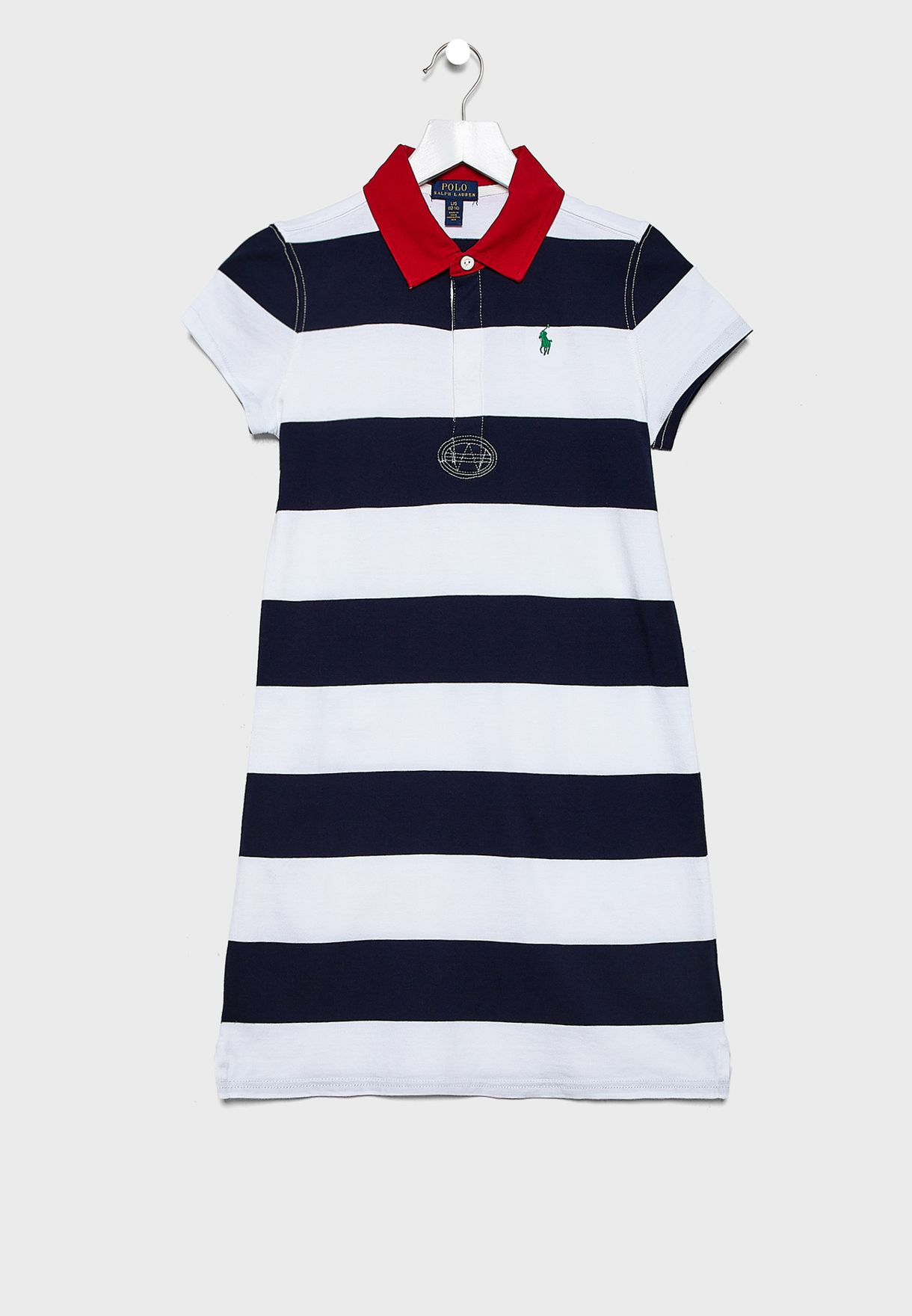 Teen Striped Polo Dress