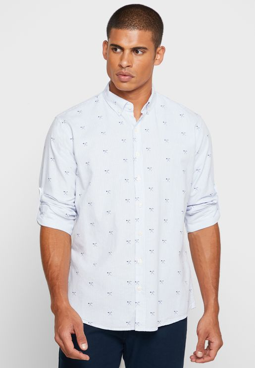 Axe Print Slim Fit Shirt