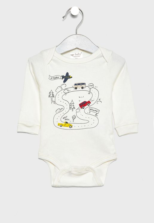 Kids Race Track Bodysuit