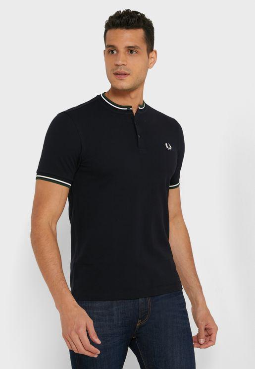 Tipped Collar Granddad T-Shirt