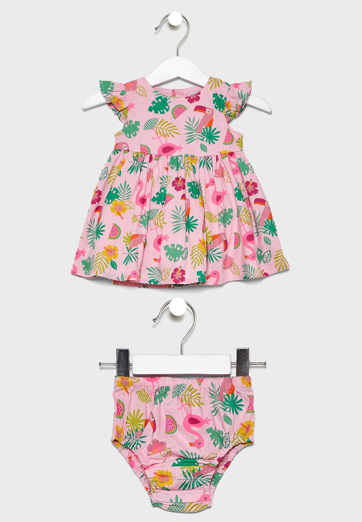 Kids Floral Dress + Knicker Set