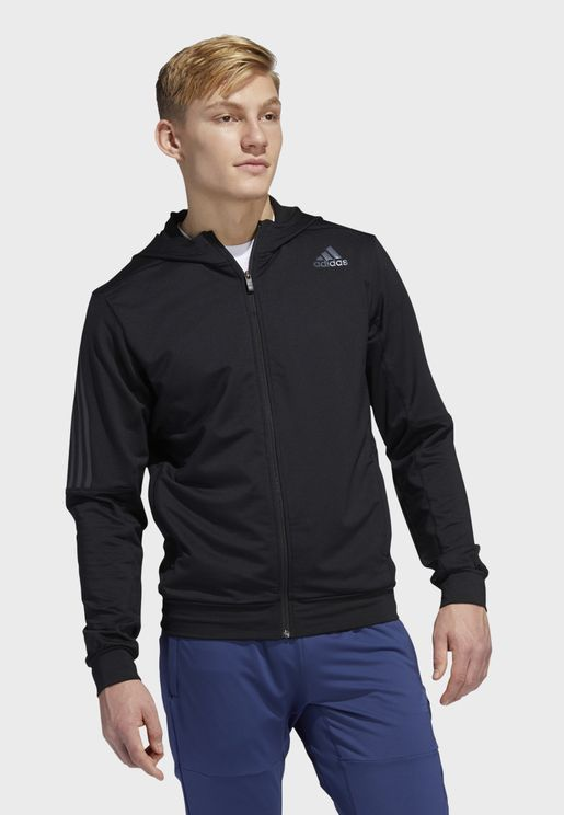 Aero 3 Stripe Hooded Jacket