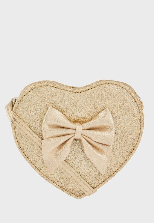 Kids Heart Bow Cross Body Bag