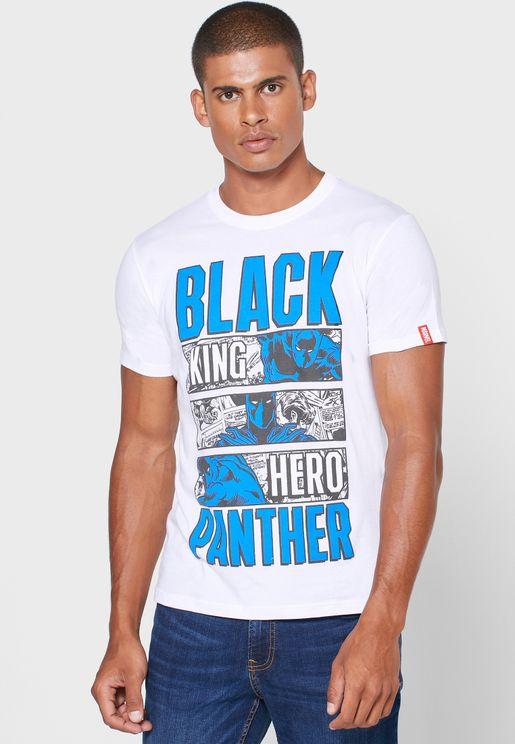 Black Panther Crew Neck T Shirt