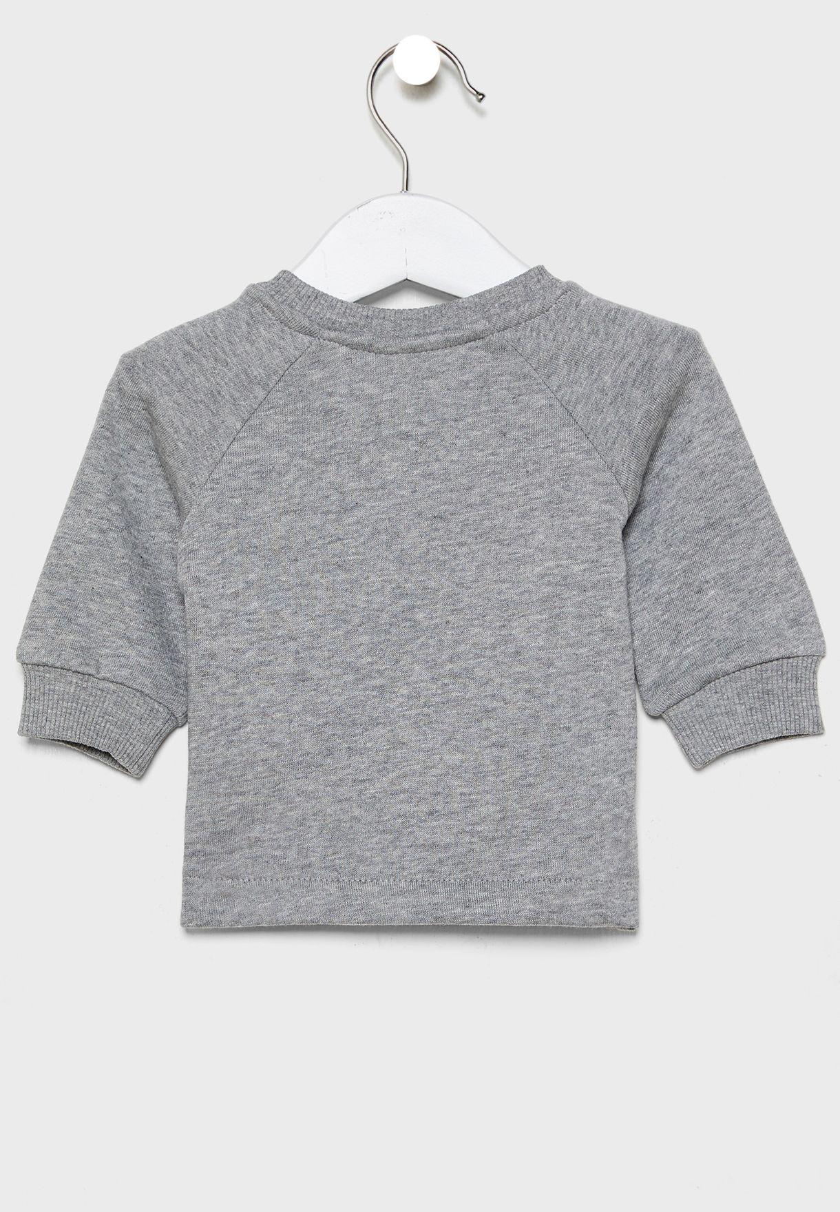 Infant Button Detail Sweatshirt