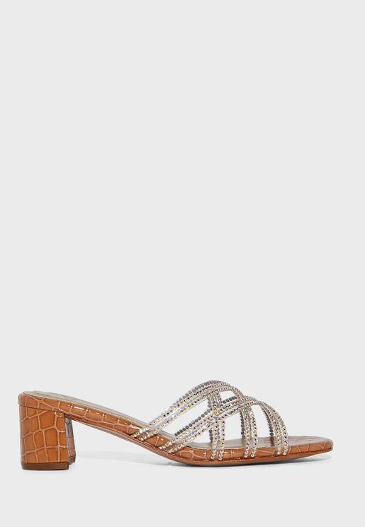 Zion Mid-Heel Sandal