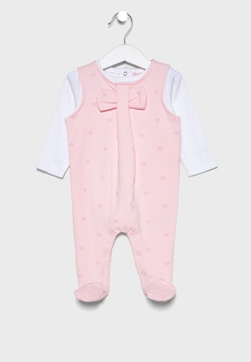 Infant Pocket Detail Dungaree + T-Shirt Set